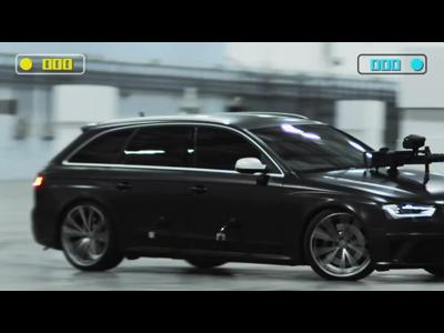 Duel de paintball en Audi RS4 Avant