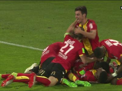 Lens - Dijon (barrage aller) : les buts du match et les réactions des entraîneurs