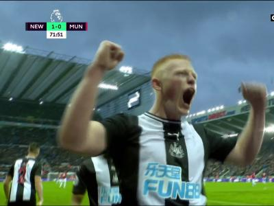 Newcastle - Manchester United : la belle action de Saint-Maximin sur le but de la victoire !