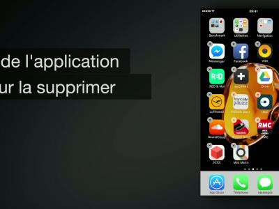 iPhone 7 - iOS 10 : comment supprimer une application ? - méthode n°2