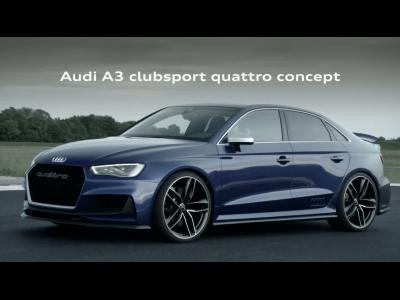 Un aileron aérofrein pour l'Audi A3 clubsport quattro