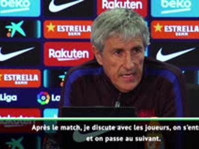 """Barça - Setién : """"Je refuse d'écouter ce qui se passe à l'extérieur"""""""