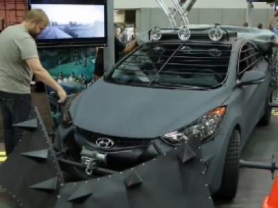 Une Hyundai anti zombie