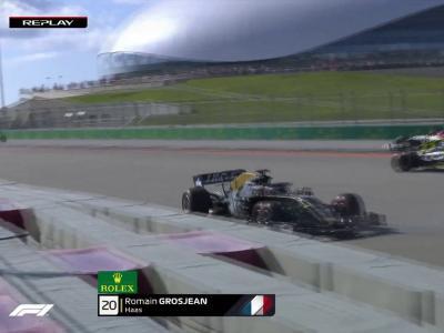 Grand Prix de Russie de F1 : Romain Grosjean termine dans le mur