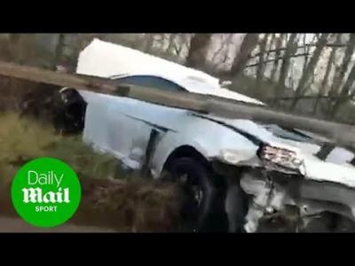 Lamborghini belonging to Sergio Romero wrecked after crash