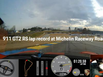 Porsche 911 GT2 RS : record du tour sur le circuit Michelin Raceway Road Atlanta
