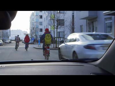 Volvo présente la détection des cyclistes avec freinage automatique