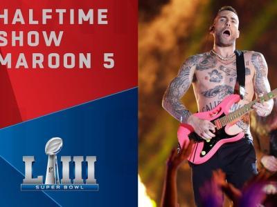 Super Bowl 2019 : le concert de Maroon 5 lors du Halftime show