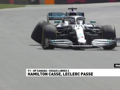 GP du Canada de F1 : résumé des essais libres 2, le crash d'Hamilton