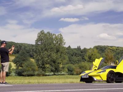 Ken Block essaie la Ford GT en France