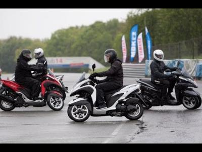 Prise en main Yamaha Tricity ABS