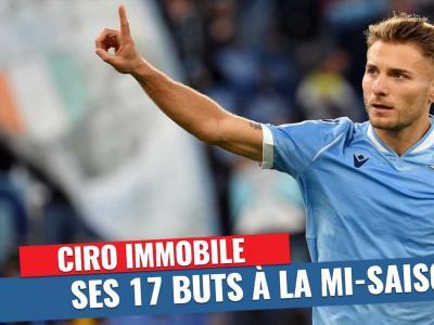 Serie A : Les 17 buts d'immobile sur la phase aller