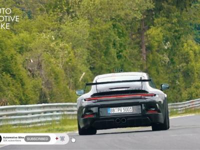 La vidéo espion de la Porsche 911 GT3 type 992 sur le Nürburgring