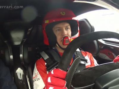 Interview insolite à bord d'une LaFerrari FXX K pour Sebastian Vettel