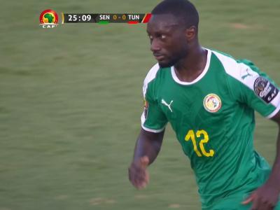 CAN 2019 / Sénégal - Tunisie : la frappe sur la transversale de Sabaly