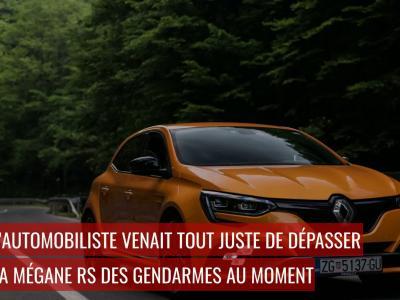 Excès de vitesse : flashé à 180 km/h après avoir dépassé la Mégane RS des gendarmes
