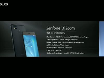 Asus ZenFone 3 Zoom : Keynote de présentation du téléphone au CES 2017 (VO)