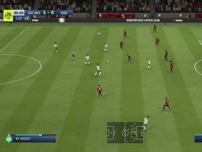 OGC Nice - ASSE sur FIFA 20 : résumé et buts (L1 - 37e journée)