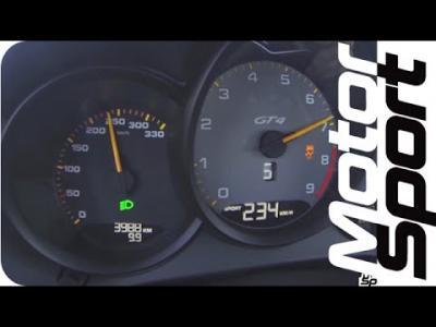 Vivez un 0 à 246 km/h à bord de la Porsche Cayman GT4