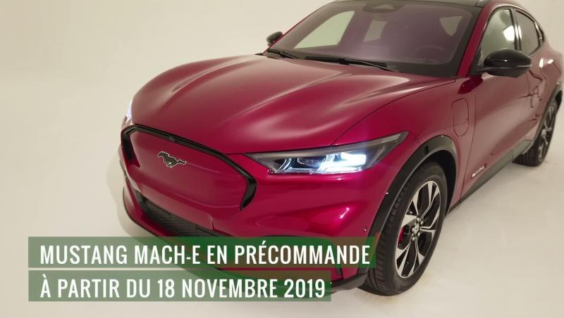 Ford Mustant Mach E : présentation vidéo du SUV 100% électrique