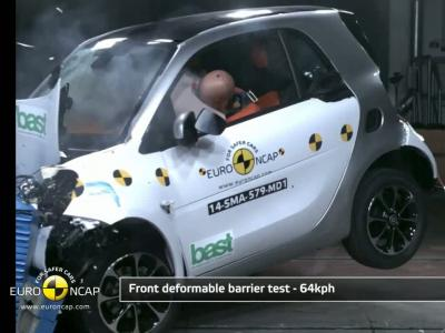 Revivez le spectaculaire crash-test de la nouvelle Smart ForTwo