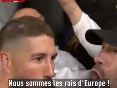 Quand Sergio Ramos chante avec les supporters du Real Madrid