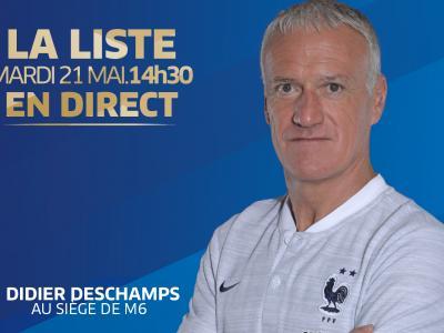Équipe de France : regardez l'annonce de la liste de Didier Deschamps en direct vidéo