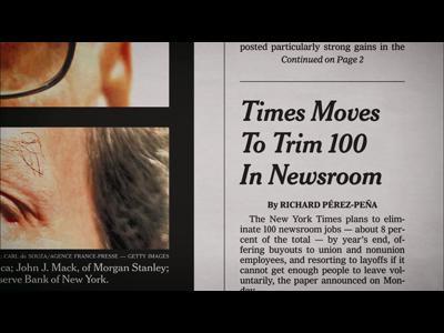 Le New York times de l'intérieur