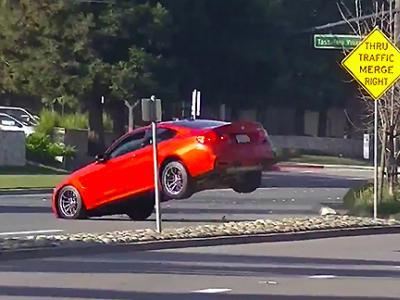 Une belle frayeur au volant d'une BMW M4 neuve
