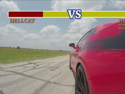 Challenger Hellcat vs. Camaro HPE750 : près de 1 500 ch pour une dragrace