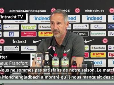 27e j. - Hütter, coach de Francfort, refuse de parler de crise