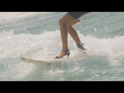 Maud Le Car surfe en talons