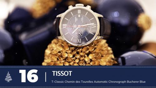 #16 Tissot T-Classic Chemin des Tourelles Automatic Chronograph Bucherer Blue