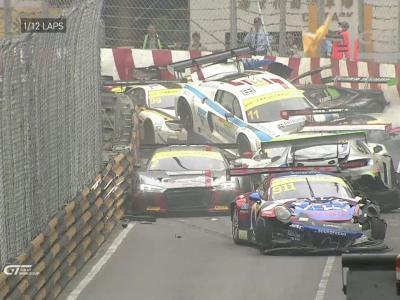 Un crash de 12 voitures au Grand Prix de Macao