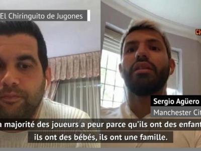 """Coronavirus - Agüero : """"La majorité des joueurs a peur"""""""