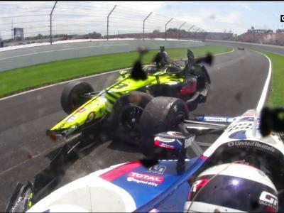500 Miles d'Indianapolis 2019 : le crash de Sébastien Bourdais en vidéo