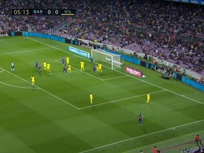 Barça - Villarreal : le but de Griezmann sur un service de Messi