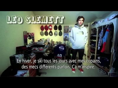 Portrait du rider français Léo Slemett