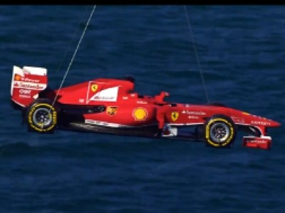 Vidéos : The flying Ferrari
