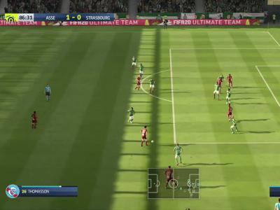 ASSE - RC Strasbourg sur FIFA 20 : résumé et buts (L1 - 30e journée)