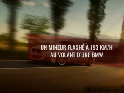 Un mineur flashé à 193 km/h au volant d'une BMW