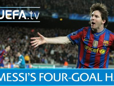 Le quadruplé de Messi face à Arsenal
