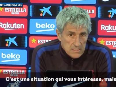 Quique Setién s'agace de la polémique Messi-Abidal