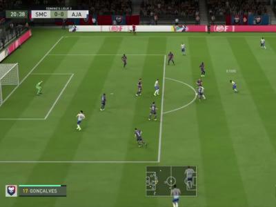 Stade Malherbe de Caen - AJ Auxerre sur FIFA 20 : résumé et buts (L2 - 32e journée)