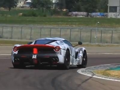 Alonso pousse La Ferrari à ses limites à Fiorano