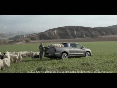 Le pickup Honda Ridgeline fait chanter les moutons pour le Super Bowl