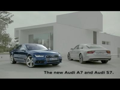 L'Audi A7 restylée en vidéo