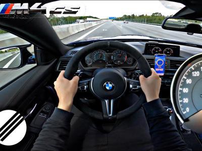 La BMW M4 de 560 chevaux à 300 km/h sur les autoroutes allemandes