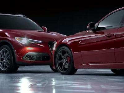 Ballet sur glace en tandem pour les Alfa Romeo Giulia et Stelvio