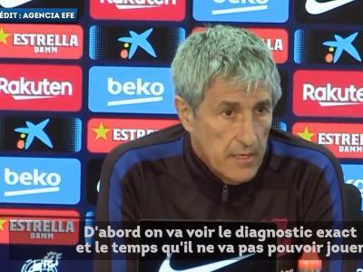 Barça : Quique Setién évoque ses regrets pour Dembélé